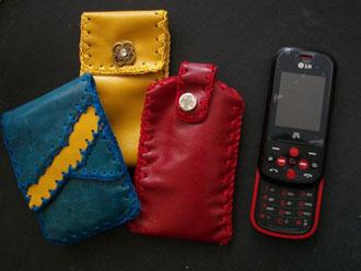 Estuches cuero celulares