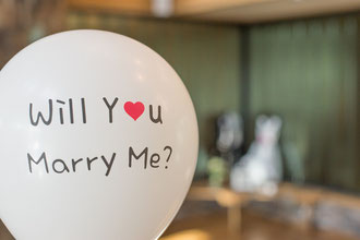 Hochzeitsantrag - Will you marry me?
