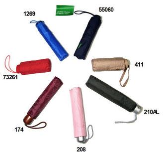 Opvoubare effen paraplu's