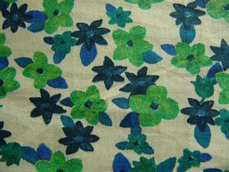 JAB-Stoff Blumen grün-blau