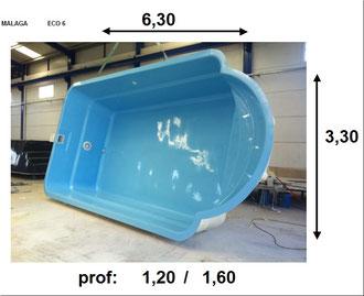 piscina poliester Malaga ECO 6