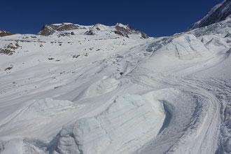 Aufstieg Monterosahütte, Skihochtour, Wallis, Zermatt