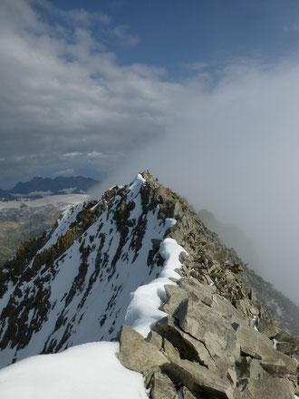 Bietschhorn, Ostrippe, Ostsporn, Westgrat, Gipfel