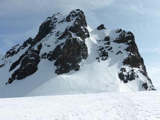 Gipfelanstieg, Rimpfischsattel, Rimpfischhorn