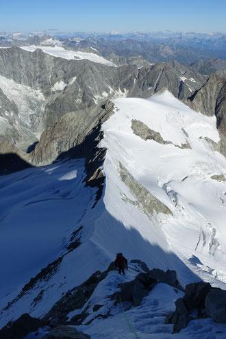 Zinalrothorn, Nordgrat, Mountet, Arête du Blanc, Blanc du Moming d'Hérens, Pointe de Zinal, Dent Blanche