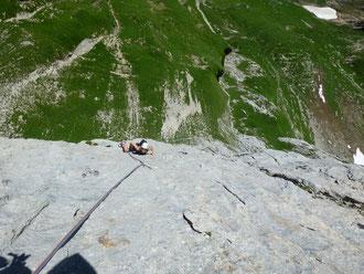 Klettern, Moor, Moorphium, Alpstein, 3. Seillänge
