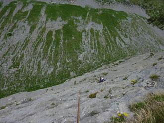 Einarmiger Bandit, Ofen, Melchtal, Mehrseillängen, klettern