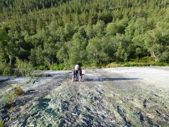 Hægar, Hægefjell, Nissedal, Norwegen, klettern, Mehrseillängen, Trad