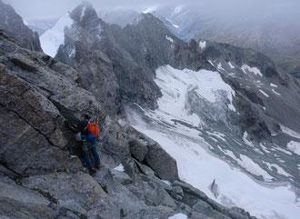 Hochtour, Obergabelhorn, Südwand, Wallis, Arbenbiwak