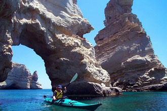 There are more then 30 sea arches around Milos island