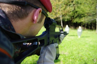 Ein Soldat beim Einsatztraining. Foto: Morcinek