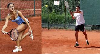 Nina Conrad vom TC Schwarz-Weiß Merzig und Christian Krämer vom TC Illtal Illingen konnten zum ersten Mal den Warm-up des TC Rot-Weiss Dillingen gewinnen.