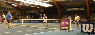Bei der Cardio-Demo vor dem WTA-Damenfinale in Luxembourg boten Georg Eich mit seinem Team eine begeisternde Show.