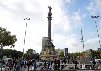 Памятник Колумбу в Барселоне - величественный монумент