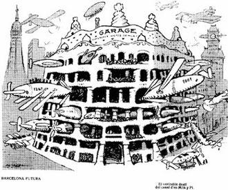 Каса Мила - каррикатура