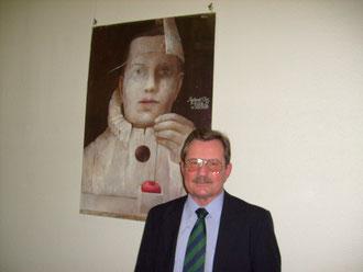 Wojciech Pomianowski, Gesandter-Botschaftsrat, bei der Ausstellungseröffnung am 23.01.2009. Fot. Doris Luce