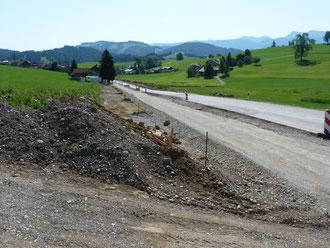 Erneuerung einer Kreisstraße bei Stiefenhofen-Mittelhofen
