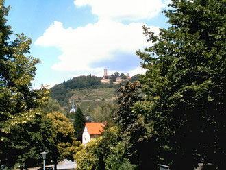 Blick auf Heppenheim mit Starkenburg
