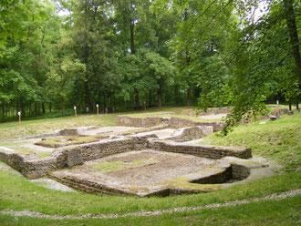 Fundamente der ehemaligen Burg Stein