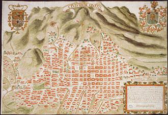 Plano de la ciudad de Quito. © AGI