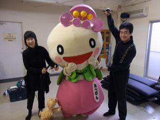 ↑ モフィー              ↑ てぶくろくん&工藤氏