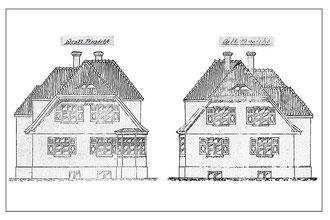 Original Architektenzeichnung