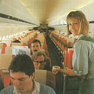 Atmosphäre an Bord einer MD-80 der Aero Lloyd/Courtesy: Aero Lloyd