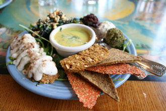 Raw Food Sample Platter at Café Gratitude