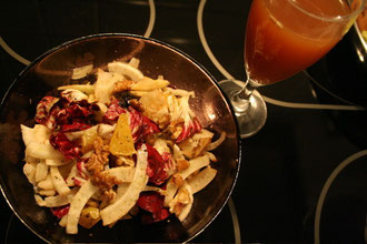 Radicchio Fennel Salad with Lavender infused Water Kefir