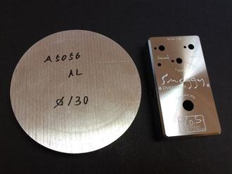 A5056基材と完成後のシャーシ