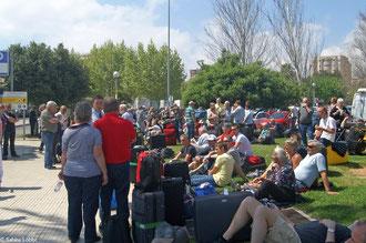 Warten auf die Fähre in Palma