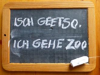 """Sieht so die """"neue  deutsche Schriftsprache"""" aus?   Mit dem Modell  """"Zuerst schreiben wir so, wie wir reden.  Später lernen wir das dann richtig"""" –  vielleicht?"""