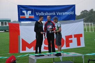 Die Sieger (von links): Niklas Brand (2. Platz), Dario Wildmann (1. Platz) und Michael Schmidt (3. Platz)