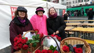Von links: Valérie Bolliger, Annemarie Heiniger und Kathrin Zahn
