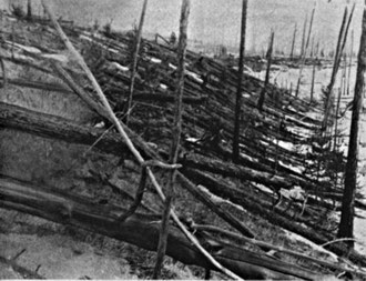 The Tunguska Event, (photo taken 19 years later).