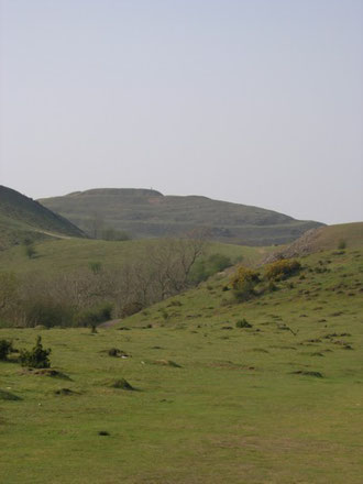 The 'hive shaped' British Camp, The Malvern Hills.
