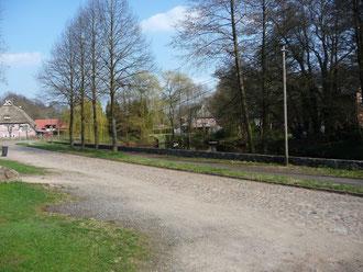 Weg am Teich zwischen Karnshof und Hof Witt
