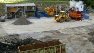 L'impianto di demetalizzazione in funzione a Lostallo in precedenza installato a Ginevra - foto Li. luglio 2010