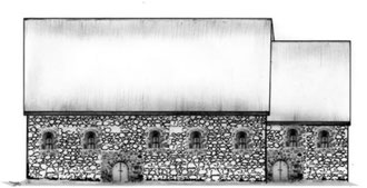 Taufkirche der Holsaten um 810/20 (n.R.Heesch)