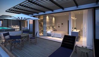 nouvelle résidence d'appartements et villas PDS SAINT ANTOINE PRIVATE RESIDENCE proche GRAND BAIE  ILE MAURICE