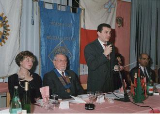 Anno rotariano 1992-1993 - Visita del Governatore Prof. Giuseppe Barbagallo Sangiorgi - Discorso del Presidente Salvatore Timpanaro - 19 dicembre 1992