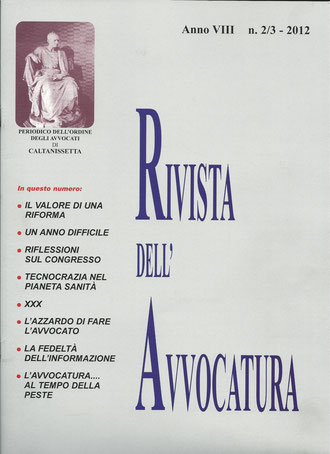 Rivista dell'Avvocatura- Anno VII-n.2-3/2012