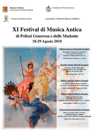 XI FESTIVAL DI MUSICA ANTICA delle Madonie - Agosto 2010 - Orchestra Barocca Siciliana