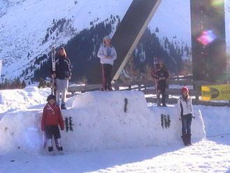 Siegerehrung LC  Slalom Katrin Hinterholzer ganz oben!