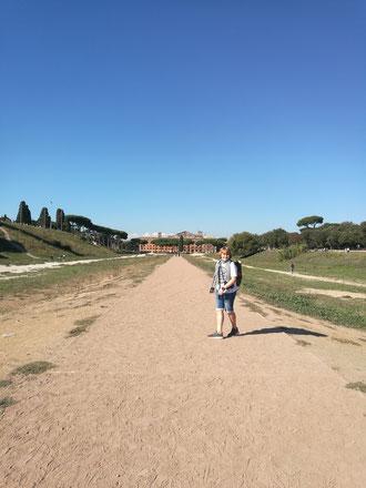 Endlich staubige Wege im Circus Maximus!!