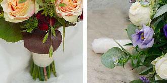 Brautstrauß mit Naturstiel und Brautstraußhalter