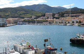 La rade de Port-Vendres vue de la terrasse du grill