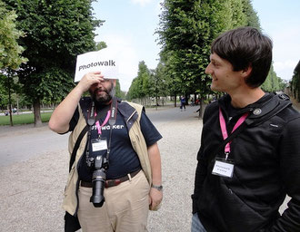 Photowalk Augarten, Robert Lender und Andreas Hafenscher