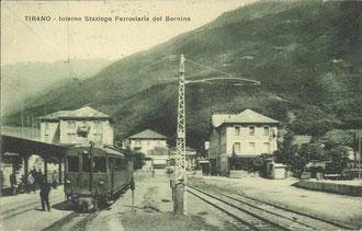 Verlag Fiorentini & Redaelli, Tirano. Karte gelaufen 1923.