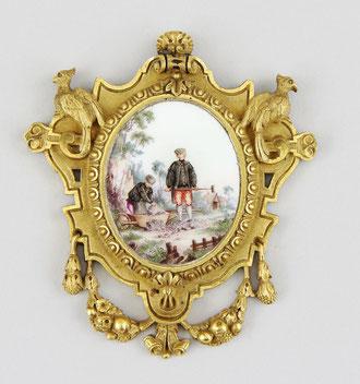 Meissen Miniatur ~1740 Bronzerahmen Antiquitäten Ankauf + Auktion